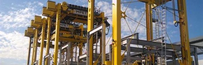 Grootste straddle-pits van Europa voor MPET-terminal